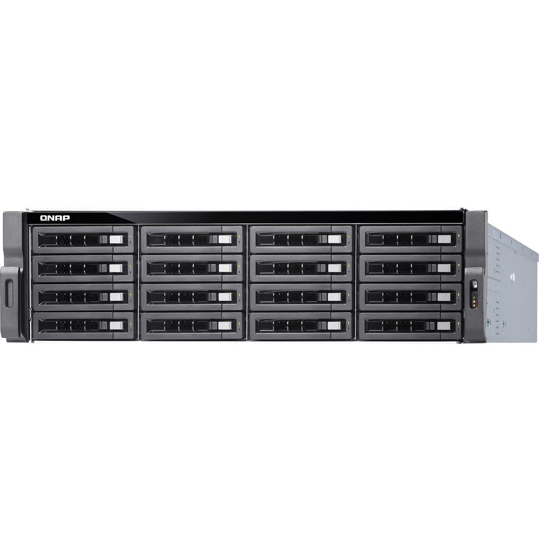 QNAP Turbo NAS TS-1673U 16 x Total Bays SAN/NAS Storage System - 512 MB Flash Memory Capacity - AMD R-Series Quad-core (4 Core) 2.10 GHz - 8 GB RAM - DDR4 SDRAM - 3U Rack-mountable