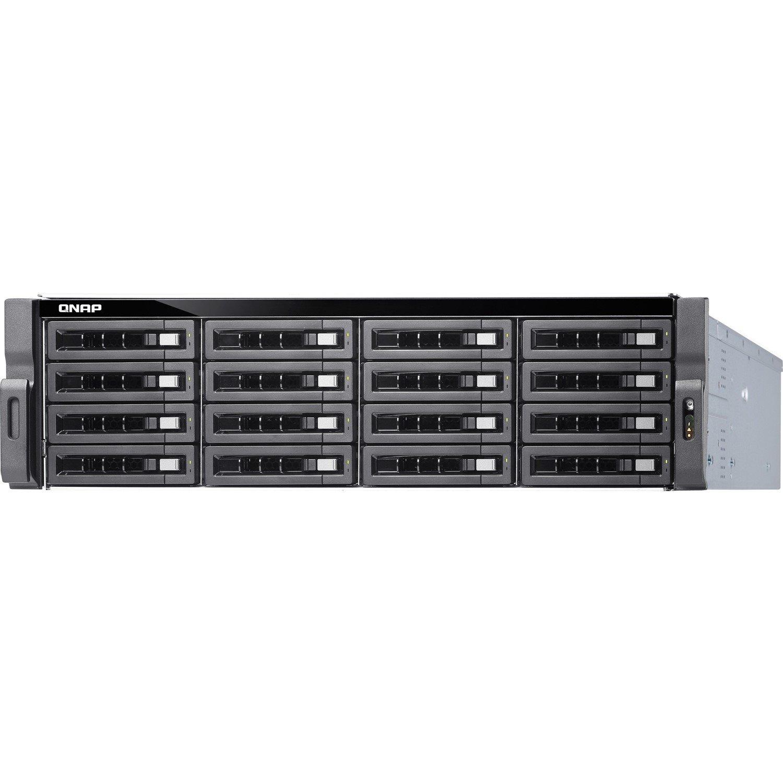 QNAP Turbo NAS TS-1673U-RP 16 x Total Bays SAN/NAS Storage System - 512 MB Flash Memory Capacity - AMD R-Series Quad-core (4 Core) 2.10 GHz - 16 GB RAM - DDR4 SDRAM - 3U Rack-mountable