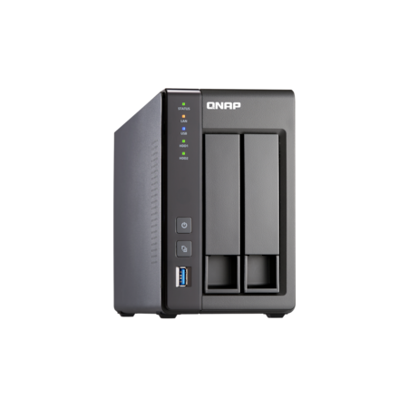QNAP Turbo NAS TS-251+ 2 x Total Bays NAS Storage System - Intel Celeron Quad-core (4 Core) 2 GHz - 2 GB RAM - DDR3L SDRAM