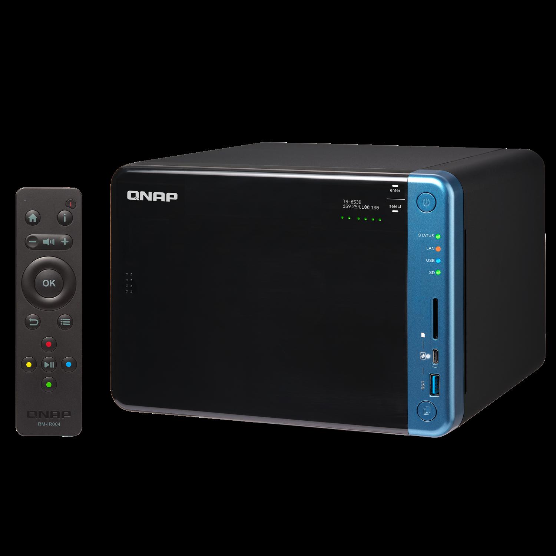 QNAP Turbo NAS TS-653B 6 x Total Bays SAN/NAS Storage System - Intel Celeron Quad-core (4 Core) 1.50 GHz - 8 GB RAM - DDR3L SDRAM Desktop