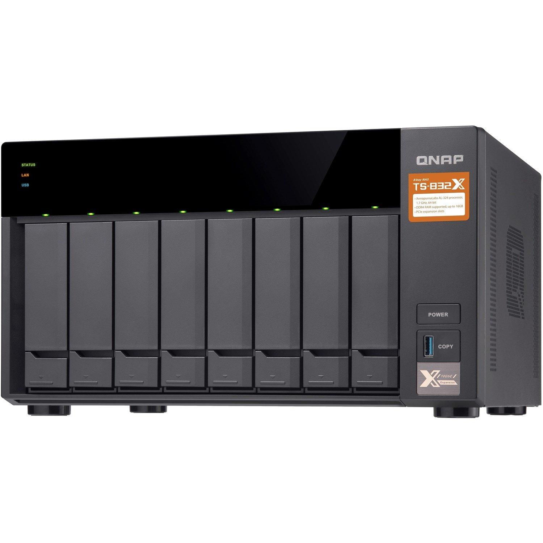 QNAP TS-832X-2G 8 x Total Bays SAN/NAS Storage System - 512 MB Flash Memory Capacity - Annapurna Labs Alpine Quad-core (4 Core) 1.70 GHz - 2 GB RAM - DDR4 SDRAM Tower