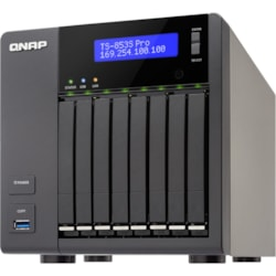 QNAP Turbo NAS TS-853S Pro 8 x Total Bays NAS Storage System - Intel Celeron Quad-core (4 Core) 2 GHz - 4 GB RAM - DDR3L SDRAM Tower