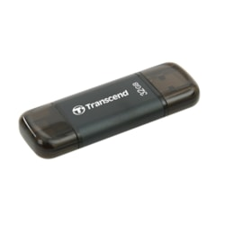 Transcend JetDrive Go 300 32 GB Lightning, USB 3.1 Flash Drive - Black