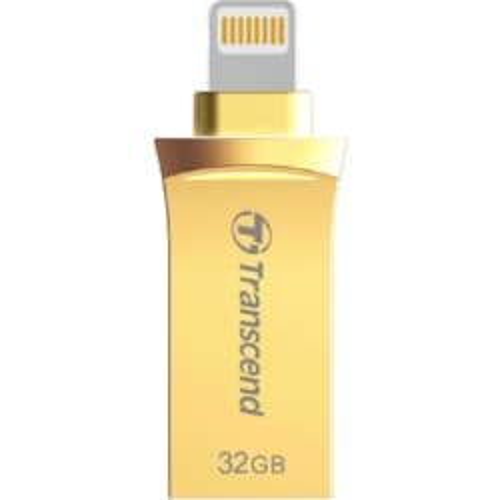 Transcend JetDrive Go 500 32 GB USB 3.1, Lightning Flash Drive - Gold