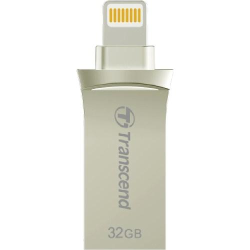Transcend JetDrive Go 500 32 GB USB 3.1, Lightning Flash Drive - Silver