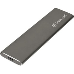 Transcend ESD250C 960 GB Portable Solid State Drive - External - SATA - Space Gray, Titanium