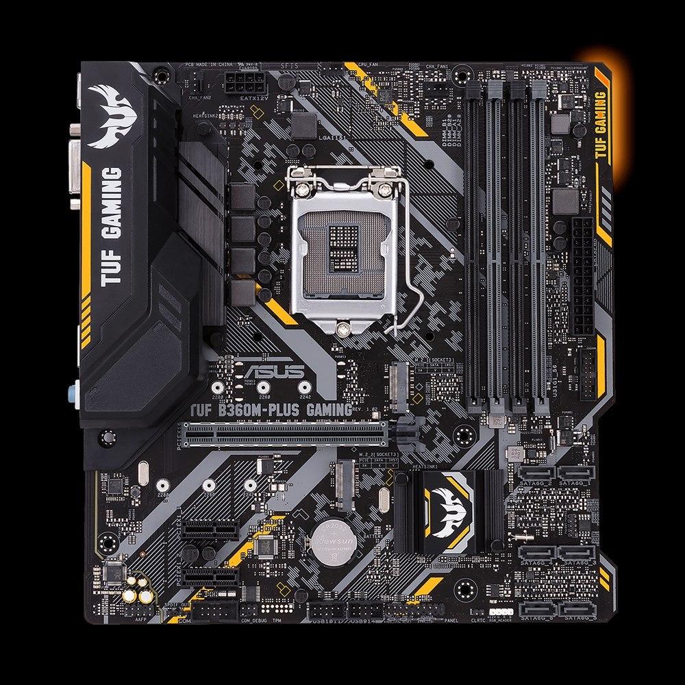 TUF B360M-PLUS GAMING Desktop Motherboard - Intel Chipset - Socket H4 LGA-1151