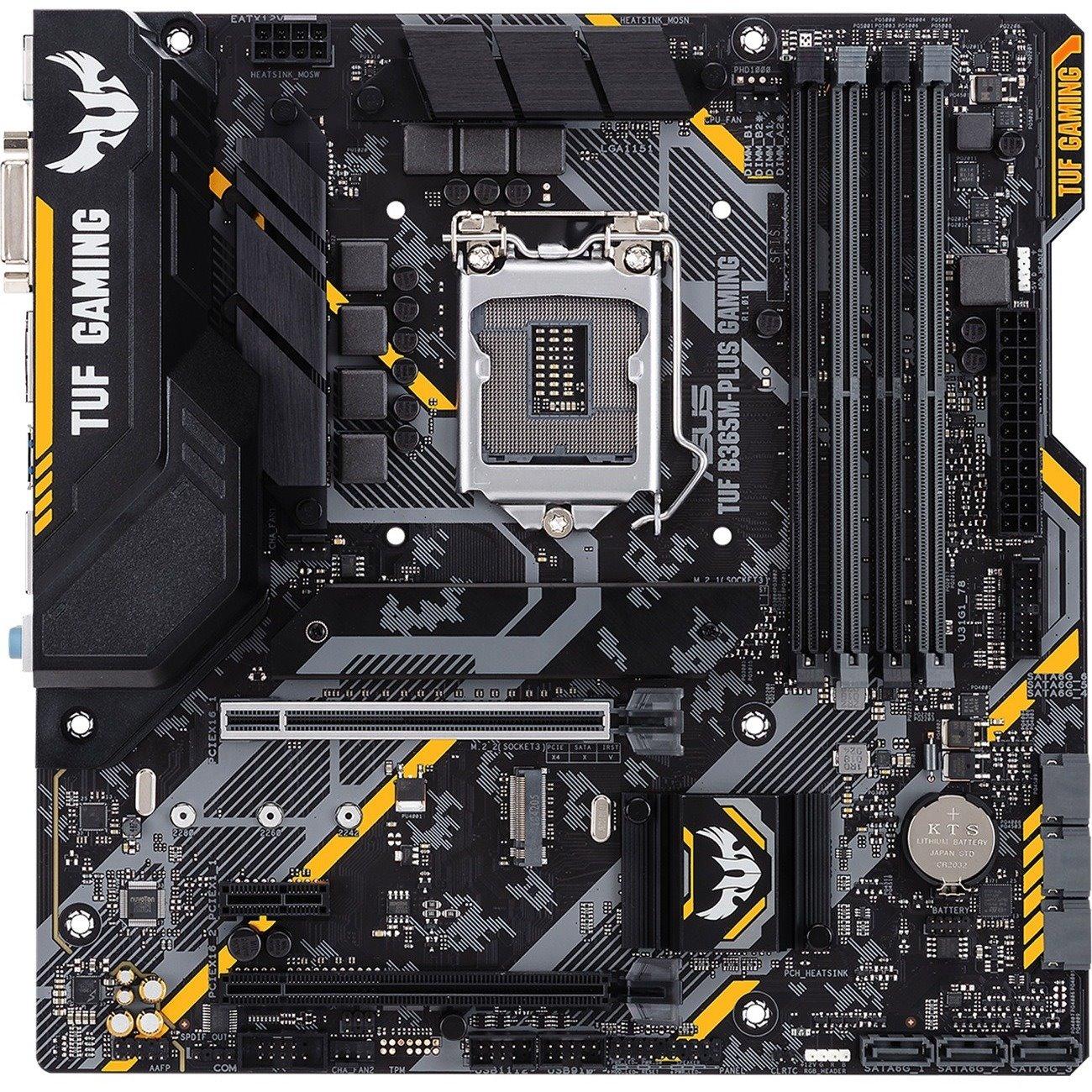 TUF B365M-PLUS GAMING Desktop Motherboard - Intel Chipset - Socket H4 LGA-1151