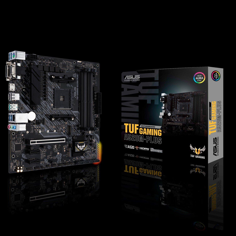 TUF GAMING A520M-PLUS Desktop Motherboard - AMD Chipset - Socket AM4