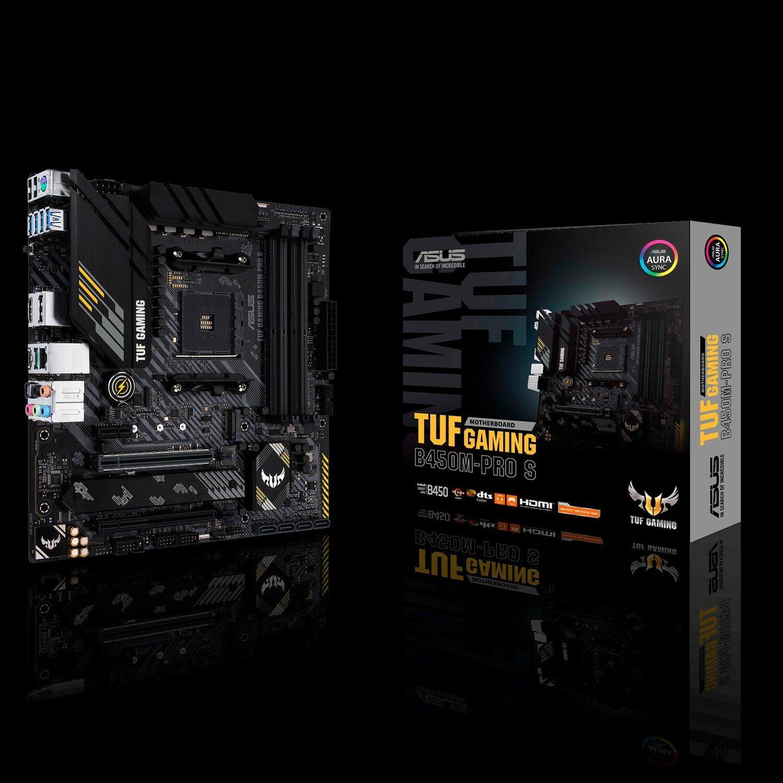 TUF GAMING B450M-PRO S Desktop Motherboard - AMD Chipset - Socket AM4