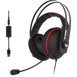 TUF Gaming H7 Wired Over-the-head Stereo Gaming Headset - Red