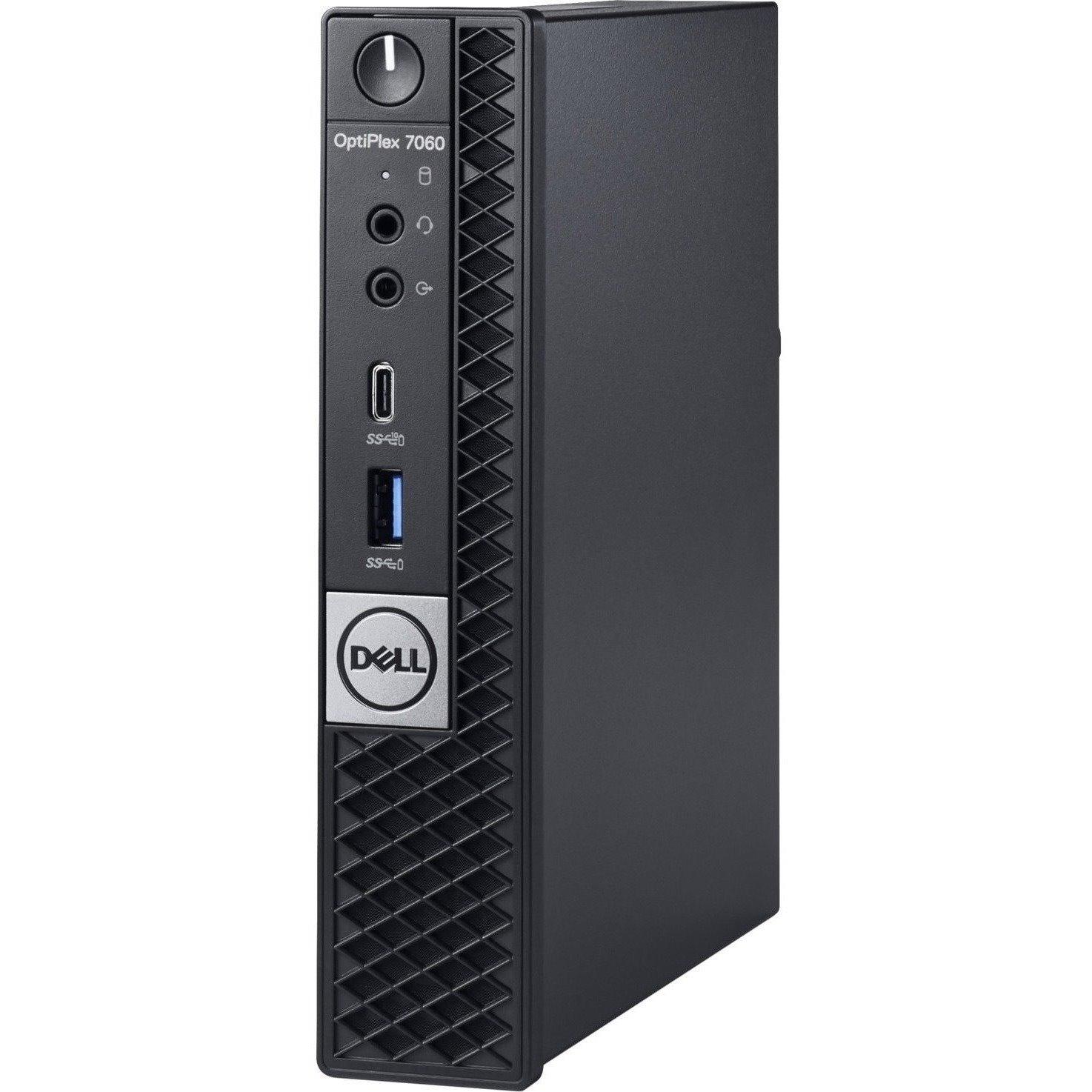 Dell OptiPlex 7000 7060 Desktop Computer - Intel Core i5 (8th Gen) i5-8500T - 8 GB DDR4 SDRAM - 128 GB SSD - Windows 10 Pro 64-bit (English) - Micro PC
