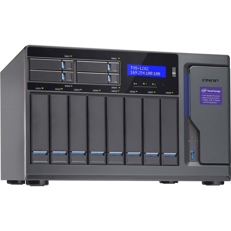 QNAP Turbo NAS TVS-1282-I3-8G 12 x Total Bays SAN/NAS Storage System - Tower