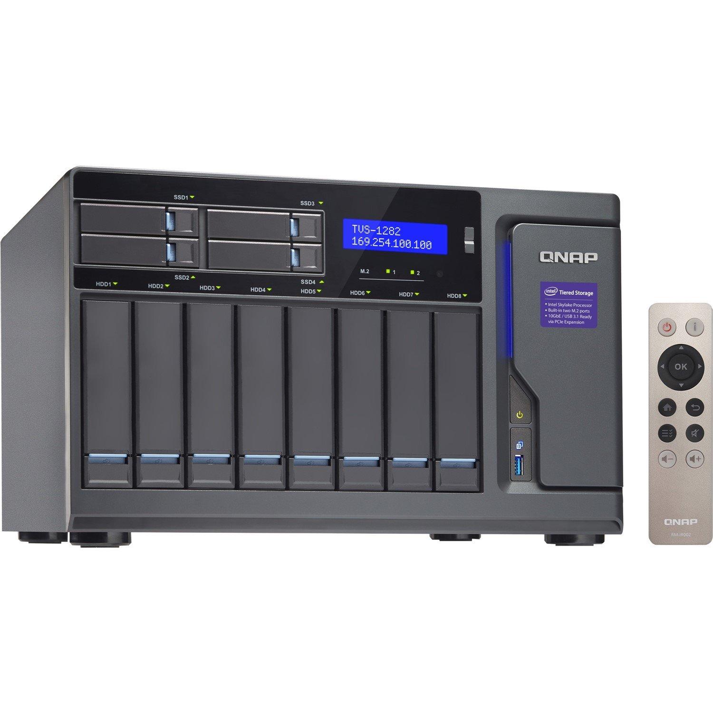 QNAP Turbo NAS TVS-1282-I7-64G 12 x Total Bays SAN/NAS Storage System - Tower