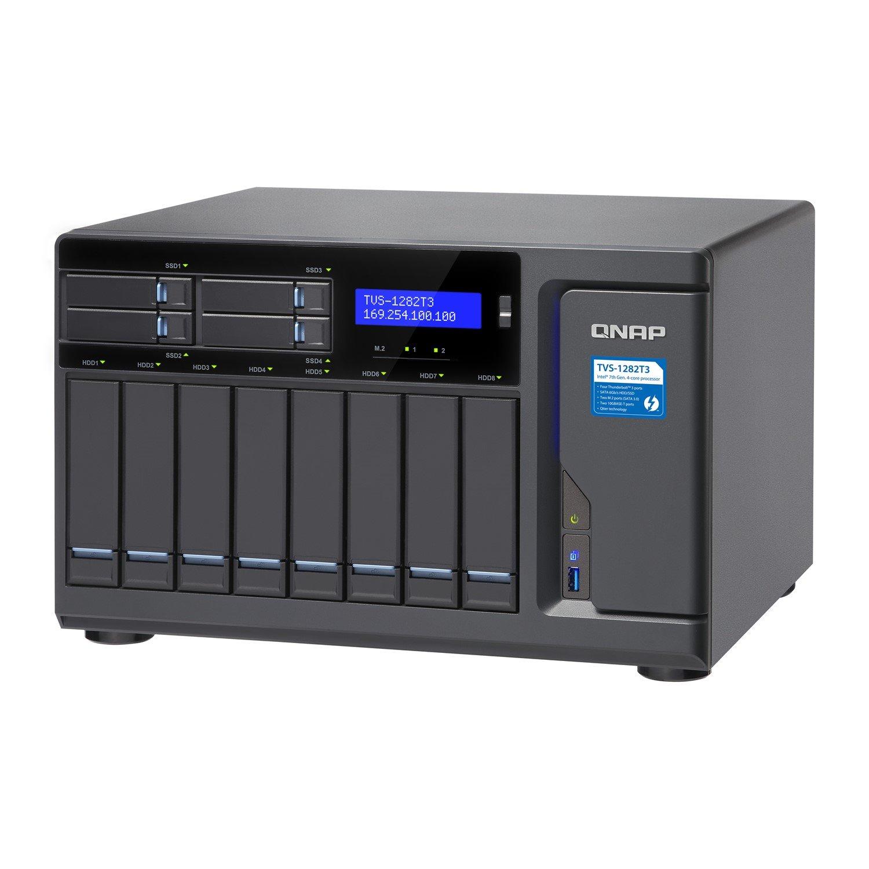 QNAP Turbo vNAS TVS-1282T3 12 x Total Bays SAN/NAS/DAS Storage System - Tower