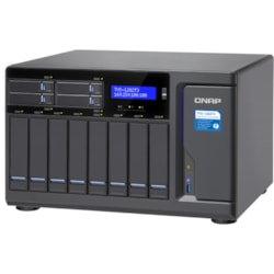 QNAP Turbo vNAS TVS-1282T3 12 x Total Bays SAN/NAS/DAS Storage System - Intel Core i7 Quad-core (4 Core) 3.60 GHz - 32 GB RAM - DDR4 SDRAM Tower