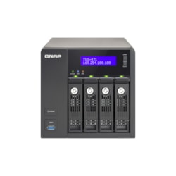 QNAP Turbo vNAS TVS-471 4 x Total Bays NAS Storage System - Intel Core i3 Dual-core (2 Core) 3.50 GHz - 4 GB RAM - DDR3 SDRAM Tower