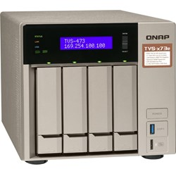QNAP TVS-473e 4 x Total Bays SAN/NAS Storage System - 512 MB Flash Memory Capacity - AMD R-Series Quad-core (4 Core) 2.10 GHz - 4 GB RAM - DDR4 SDRAM Tower