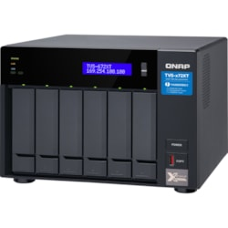 QNAP TVS-672XT-I3-8G 6 x Total Bays SAN/NAS/DAS Storage System - 4 GB Flash Memory Capacity - Intel Core i3 Quad-core (4 Core) 3.10 GHz - 8 GB RAM - DDR4 SDRAM Tower
