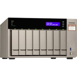 QNAP TVS-873E 8 x Total Bays SAN/NAS Storage System - 512 MB Flash Memory Capacity - AMD R-Series Quad-core (4 Core) 2.10 GHz - 8 GB RAM - DDR4 SDRAM Tower