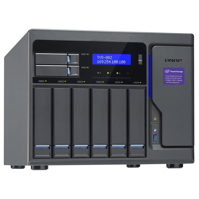 QNAP Turbo NAS TVS-882-I3-8G 8 x Total Bays SAN/NAS Storage System - Tower