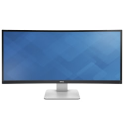 "Dell UltraSharp U3415W 86.4 cm (34"") WQHD Curved Screen LED LCD Monitor - 21:9 - Silver, Black"