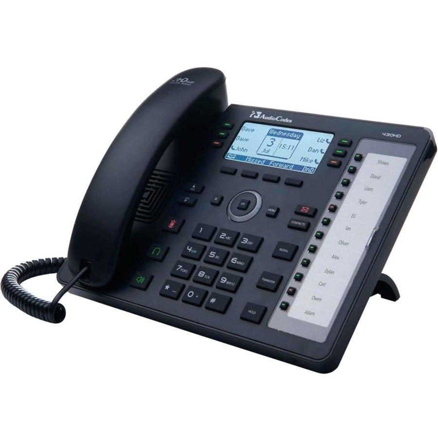 AudioCodes 430HD IP Phone - Black