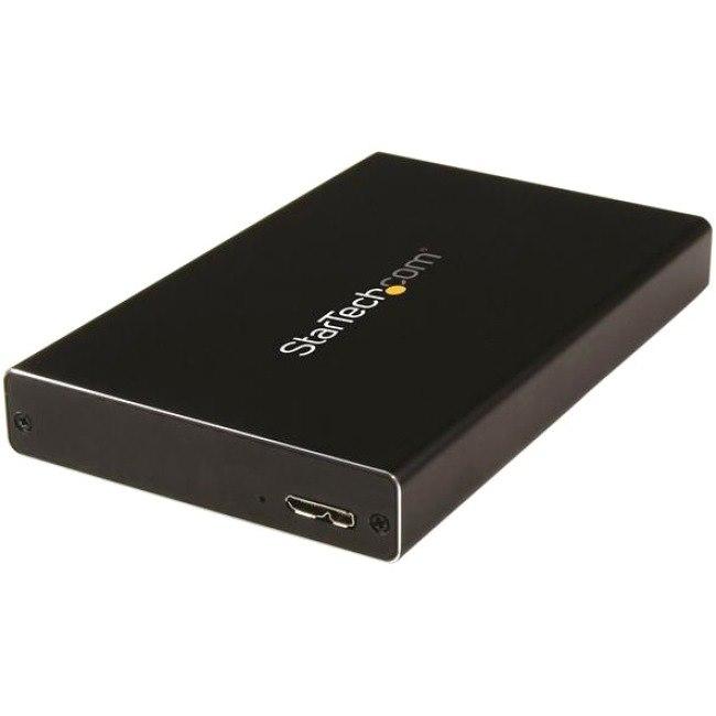 StarTech.com Drive Enclosure - USB 3.0 Micro-B Host Interface - UASP Support External - Black