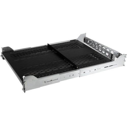StarTech com 2U Rack-mountable Rack Shelf for Server - 482 60 mm Rack Width  x 807 72 mm Rack Depth - Black - TAA Compliant