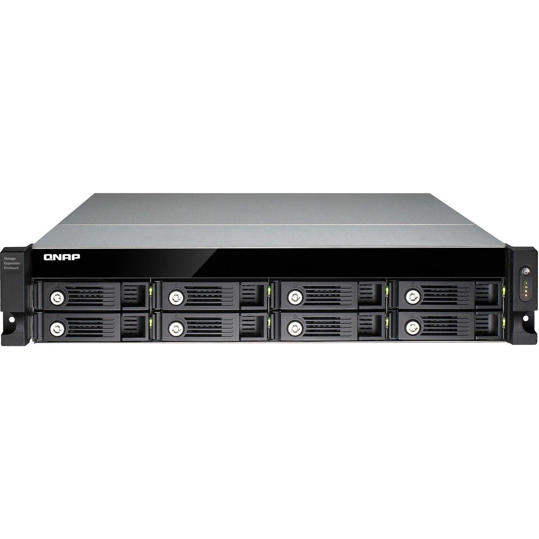 QNAP UX-800U-RP Drive Enclosure - USB 3.0 Host Interface Rack-mountable