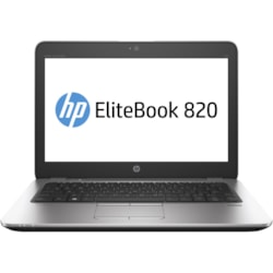 "HP EliteBook 820 G3 31.8 cm (12.5"") Notebook - Intel Core i7 (6th Gen) i7-6600U Dual-core (2 Core) 2.60 GHz - 8 GB DDR4 SDRAM - 256 GB SSD - 1366 x 768 - Silver, Black"