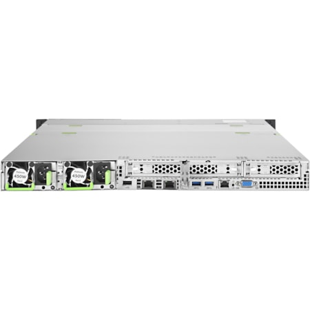 Fujitsu PRIMERGY RX2530 M2 1U Rack-mountable Server - 1 x Intel Xeon E5-2630 v4 Deca-core (10 Core) 2.20 GHz - 8 GB Installed DDR4 SDRAM - Serial ATA/600 Controller - 0, 1 RAID Levels - 1 x 450 W
