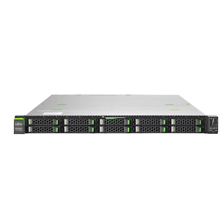 Fujitsu PRIMERGY RX2530 M2 1U Rack-mountable Server - 1 x Intel Xeon E5-2630 v4 Deca-core (10 Core) 2.20 GHz - 8 GB Installed DDR4 SDRAM - Serial ATA/600 Controller - 0, 1 RAID Levels - 1 x 450 W