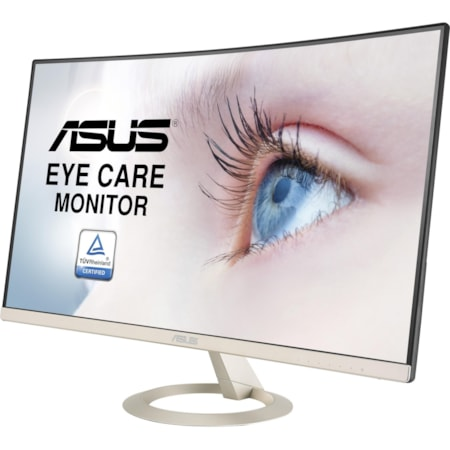 "Asus VZ27VQ 68.6 cm (27"") Full HD Curved Screen LED LCD Monitor - 16:9 - Black, Icicle Gold"