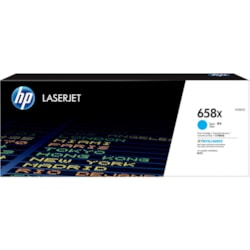HP 658X Toner Cartridge - Cyan