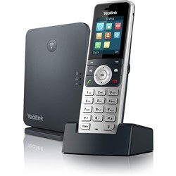 Yealink IP Phone - Cordless - Corded - DECT - Wall Mountable, Desktop - Alabaster Silver, Classic Gray