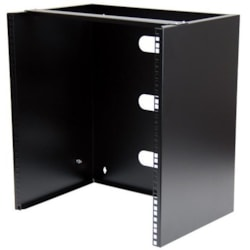 StarTech.com 12U Wall Mountable Rack Cabinet for Patch Panel, LAN Switch - 449.58 mm Rack Width x 342.90 mm Rack Depth - Black - TAA Compliant