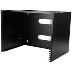StarTech.com 8U Wall Mountable Rack Cabinet for Patch Panel, LAN Switch - 449.58 mm Rack Width x 304.80 mm Rack Depth - Black - TAA Compliant