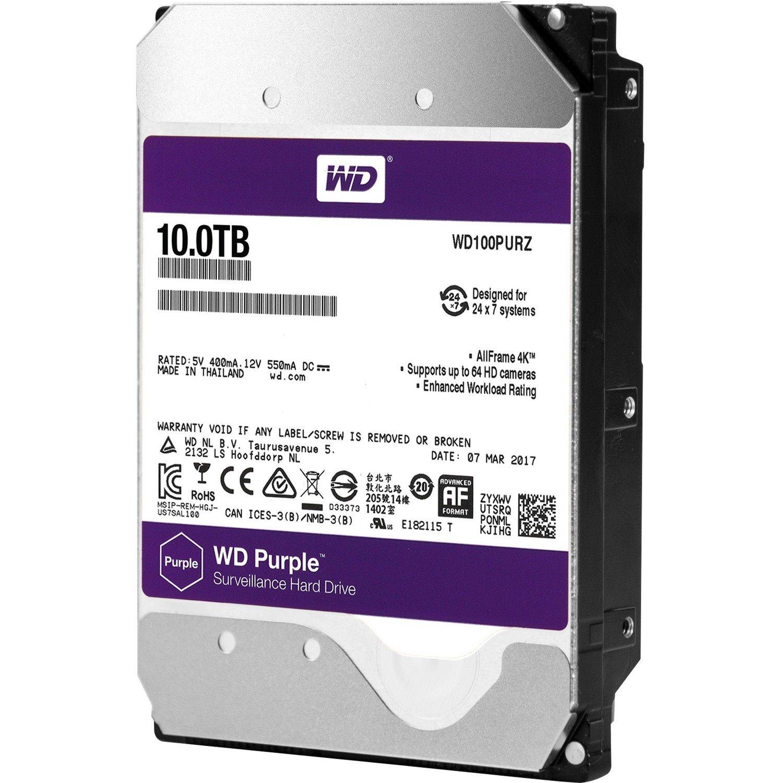 """WD Purple WD100PURZ 10 TB Hard Drive - SATA (SATA/600) - 3.5"""" Drive - Internal"""