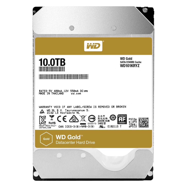 """WD Gold WD101KRYZ 10 TB 3.5"""" Internal Hard Drive - SATA"""