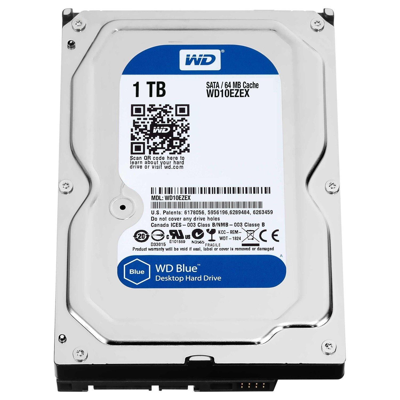 """WD Blue WD10EZEX 1 TB 3.5"""" Internal Hard Drive - SATA"""