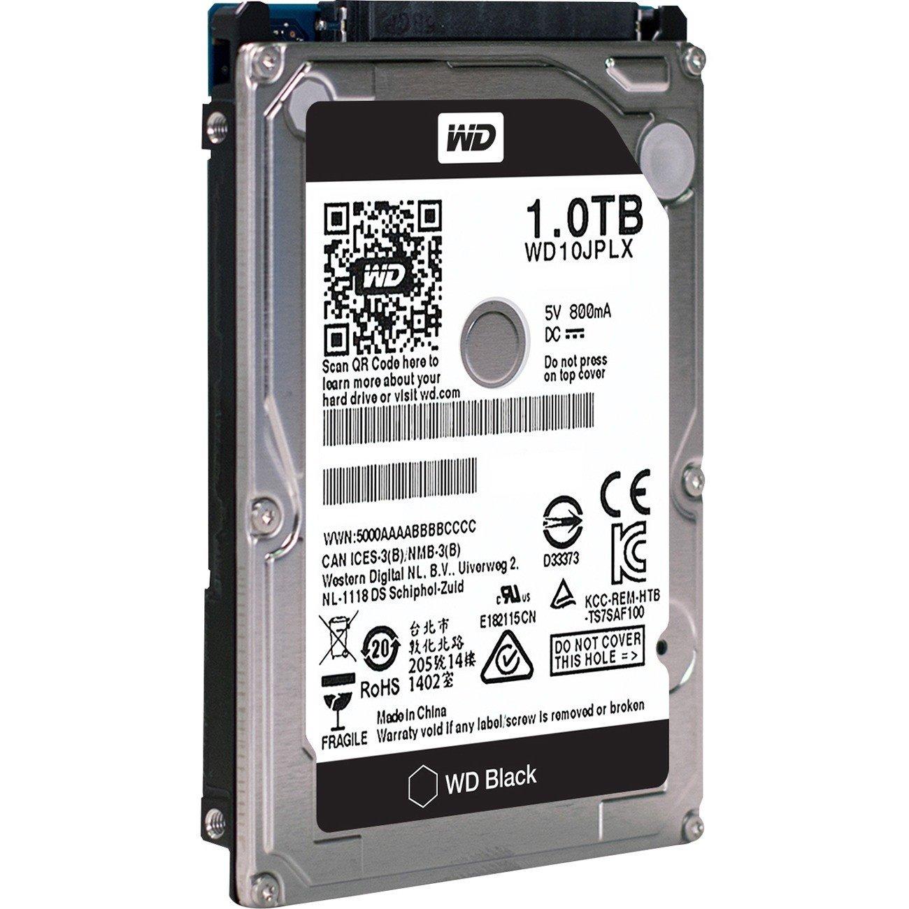 """WD Black WD10JPLX 1 TB Hard Drive - SATA (SATA/600) - 2.5"""" Drive - Internal"""