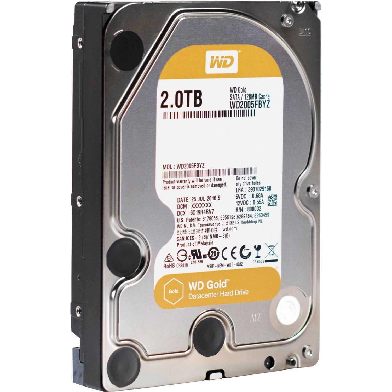 "WD Gold WD2005FBYZ 2 TB Hard Drive - SATA (SATA/600) - 3.5"" Drive - Internal"