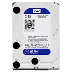 "WD Blue WD20EZRZ 2 TB Hard Drive - 3.5"" Internal - SATA (SATA/600) - Blue"