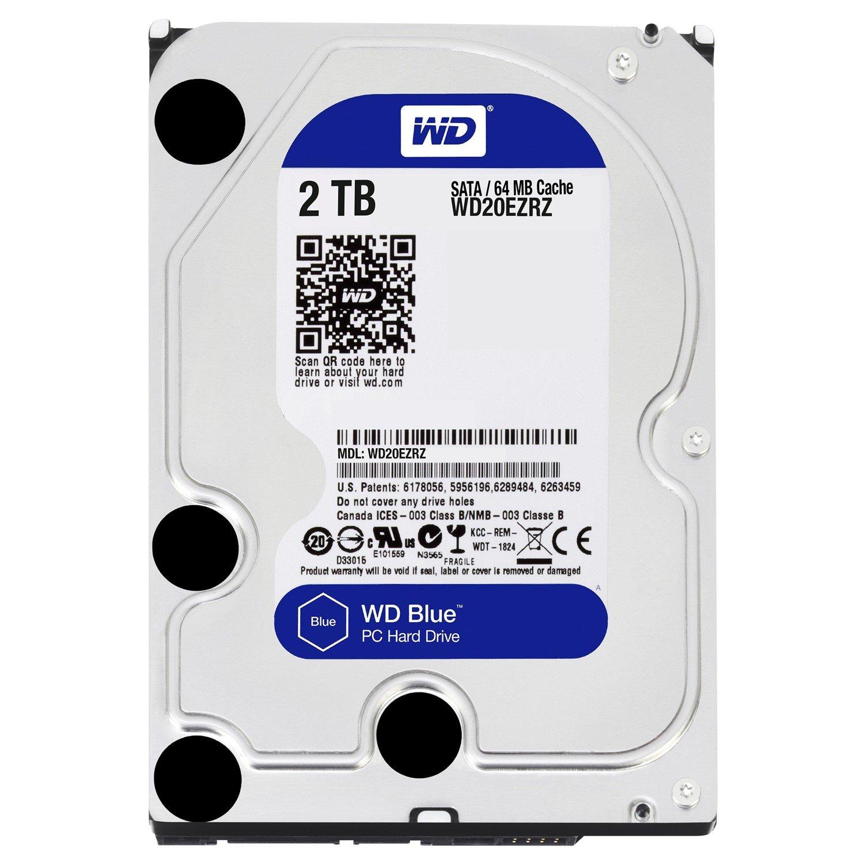 """WD Blue WD20EZRZ 2 TB Hard Drive - SATA (SATA/600) - 3.5"""" Drive - Internal"""