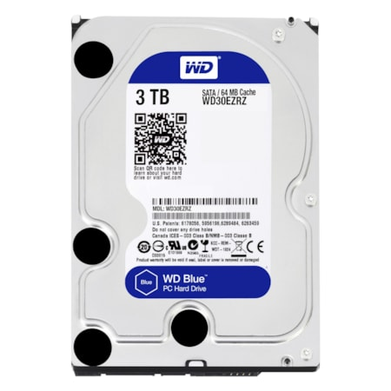 """WD Blue WD30EZRZ 3 TB Hard Drive - SATA (SATA/600) - 3.5"""" Drive - Internal"""