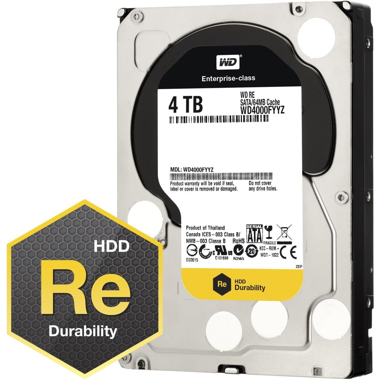 "WD RE WD4000FYYZ 4 TB Hard Drive - 3.5"" Internal - SATA (SATA/600)"