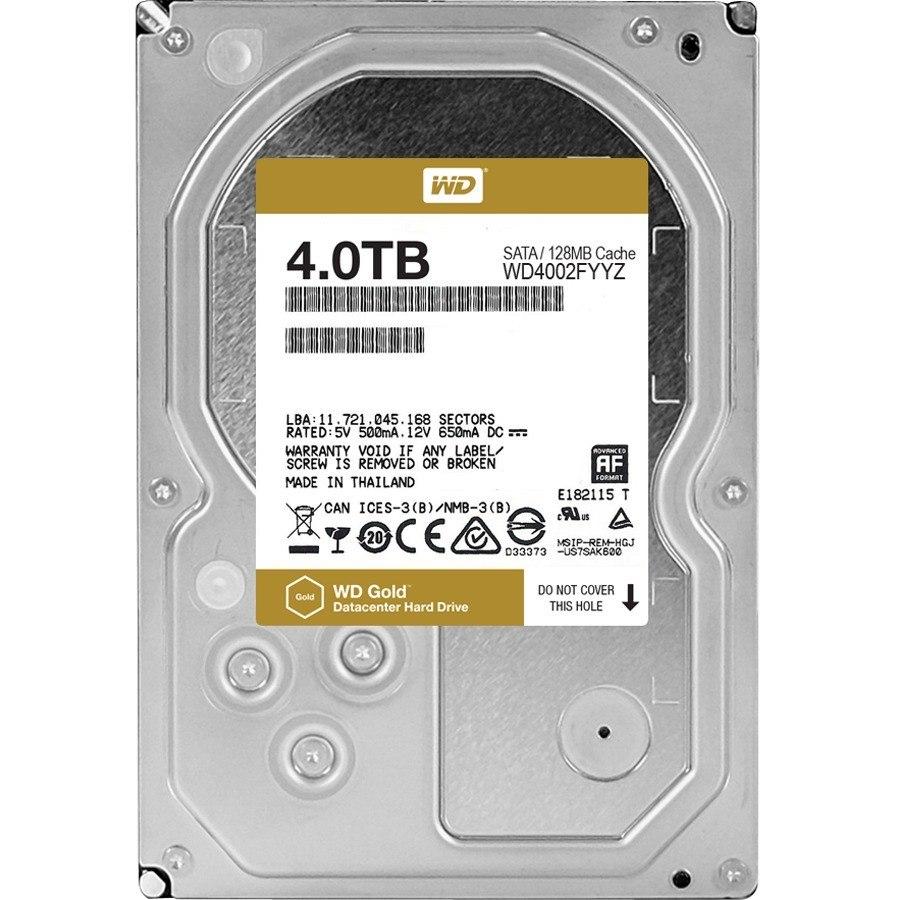 "WD Gold WD4002FYYZ 4 TB 3.5"" Internal Hard Drive - SATA"