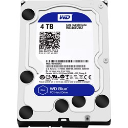 "WD Blue WD40EZRZ 4 TB Hard Drive - 3.5"" Internal - SATA (SATA/600) - Blue"