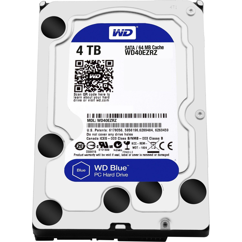 """WD Blue WD40EZRZ 4 TB Hard Drive - 3.5"""" Internal - SATA (SATA/600) - Blue"""